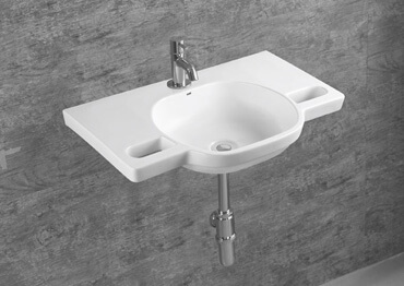 wall hung hand basins
